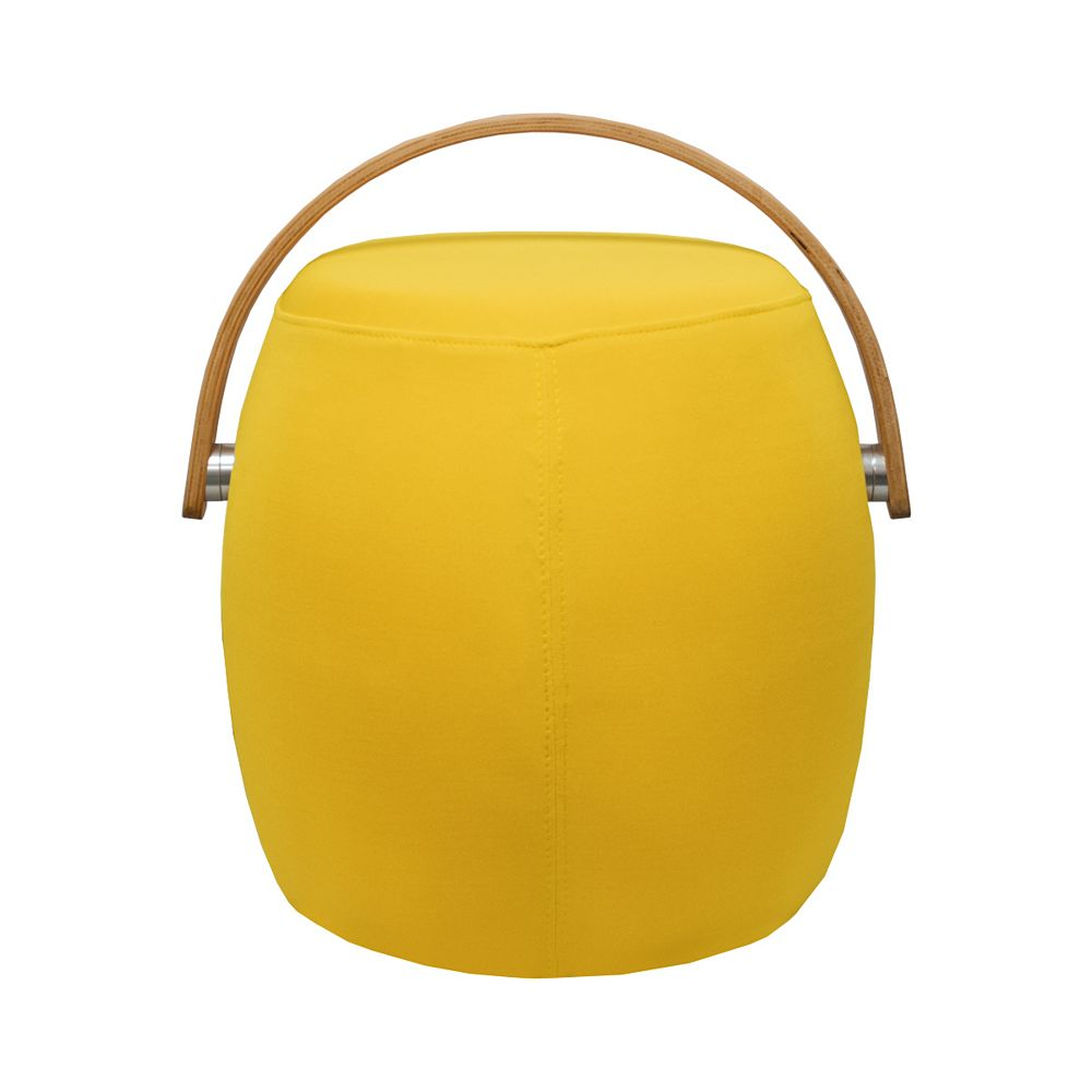 Mod Made Bucket Stool Chair with Handle Yellow