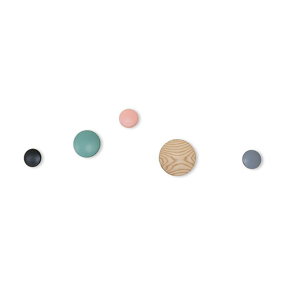 Mod Made Wall Button Coat Hook, Multi-Color