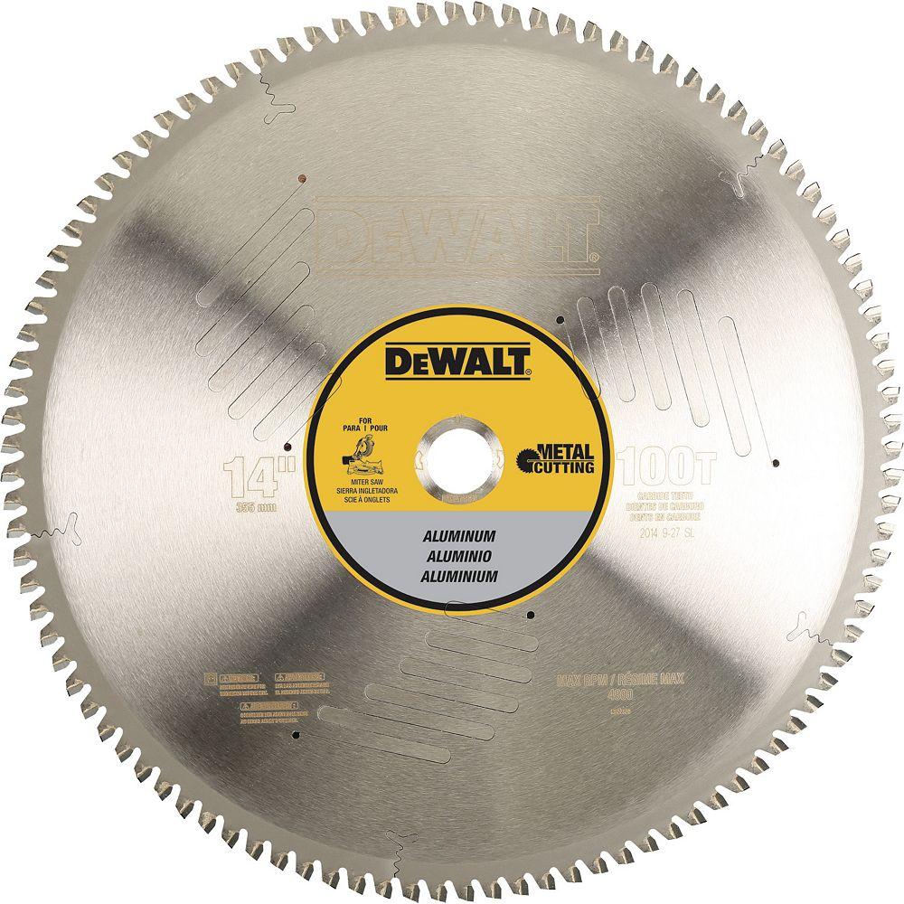 DEWALT 100 Teeth Aluminum Cutting 1-Inch Arbor, 14-Inch (DWA7889)