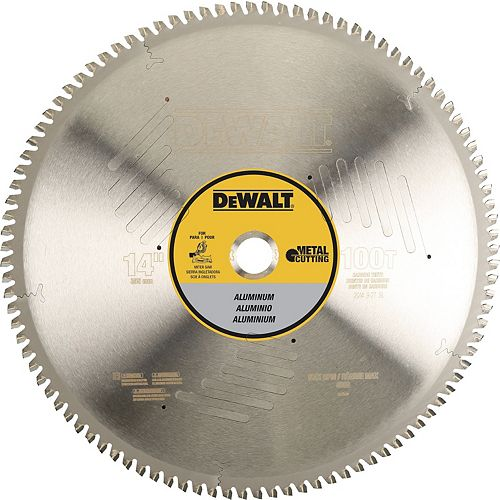 100 Teeth Aluminum Cutting 1-Inch Arbor, 14-Inch (DWA7889)