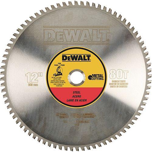 80 dents pour la coupe de métaux ferreux de calibre léger Arbre de 1 pouce, 12 pouces (DWA7740)