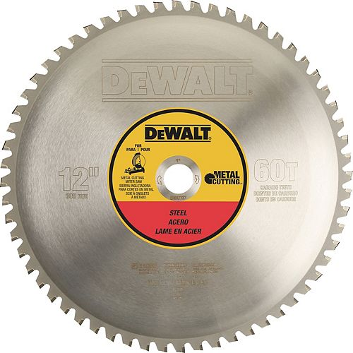 60 Teeth Heavy Gauge Ferrous Metal Cutting Saw Blade 1-Inch Arbor, 12-Inch (DWA7737)