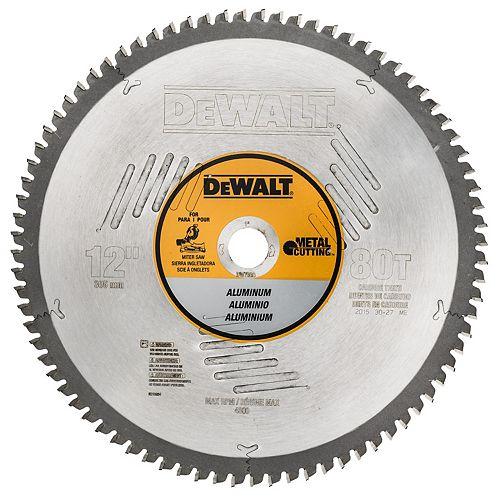 DEWALT 80T Non-Ferrous Blade, 12-Inch (DW7666)