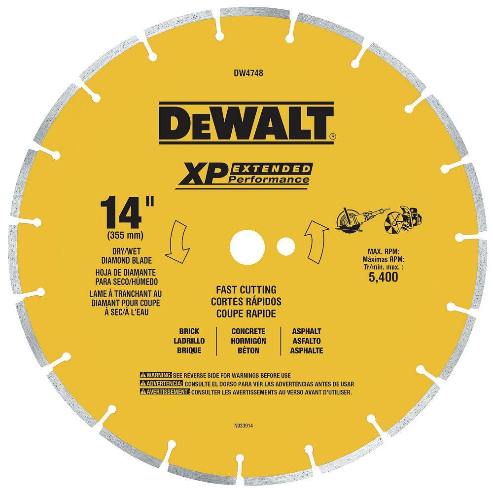 Dewalt 14-Inch Fast Cut Segmented Saw Blade with 1-Inch Arbor General Purpose (DW4748)