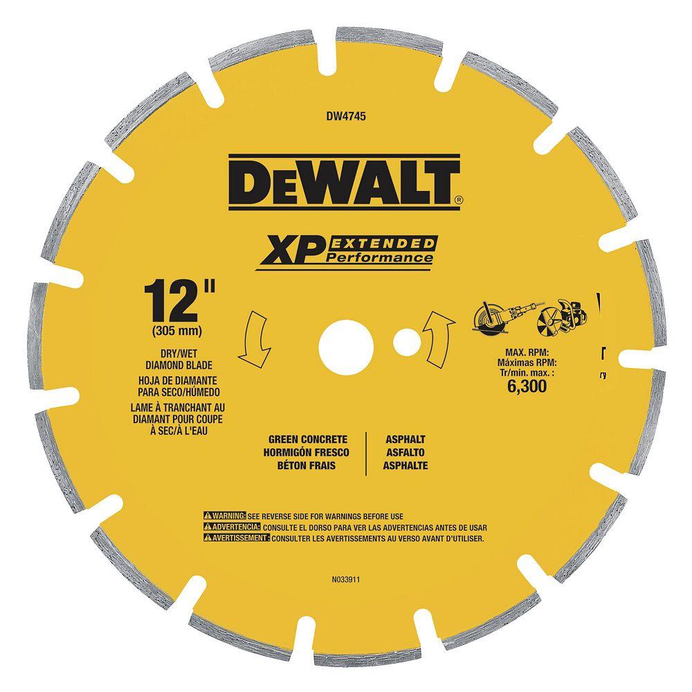 Dewalt XP 12-Inch Dry Cutting Diamond Segmented Saw Blade (DW4745)