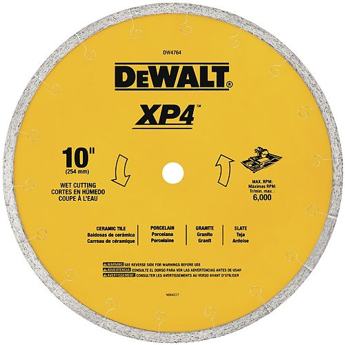 10-Inch by .060-Inch Premium XP4 Tile Blade Wet (DW4764)