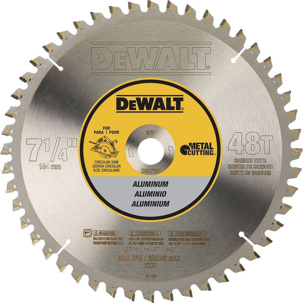 Dewalt 48 Teeth Aluminum Cutting 5/8-Inch Arbor, 7-1/4-Inch (DWA7761)
