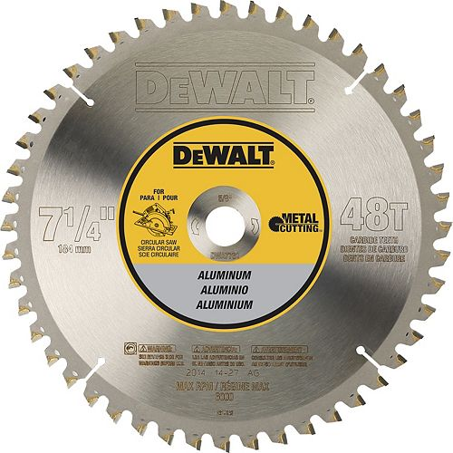 48 Teeth Aluminum Cutting 5/8-Inch Arbor, 7-1/4-Inch (DWA7761)