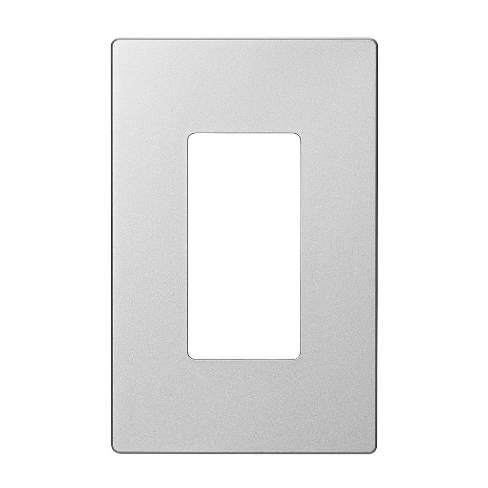 Eaton Decorator wallplate, 1-gang,  Silver Granite