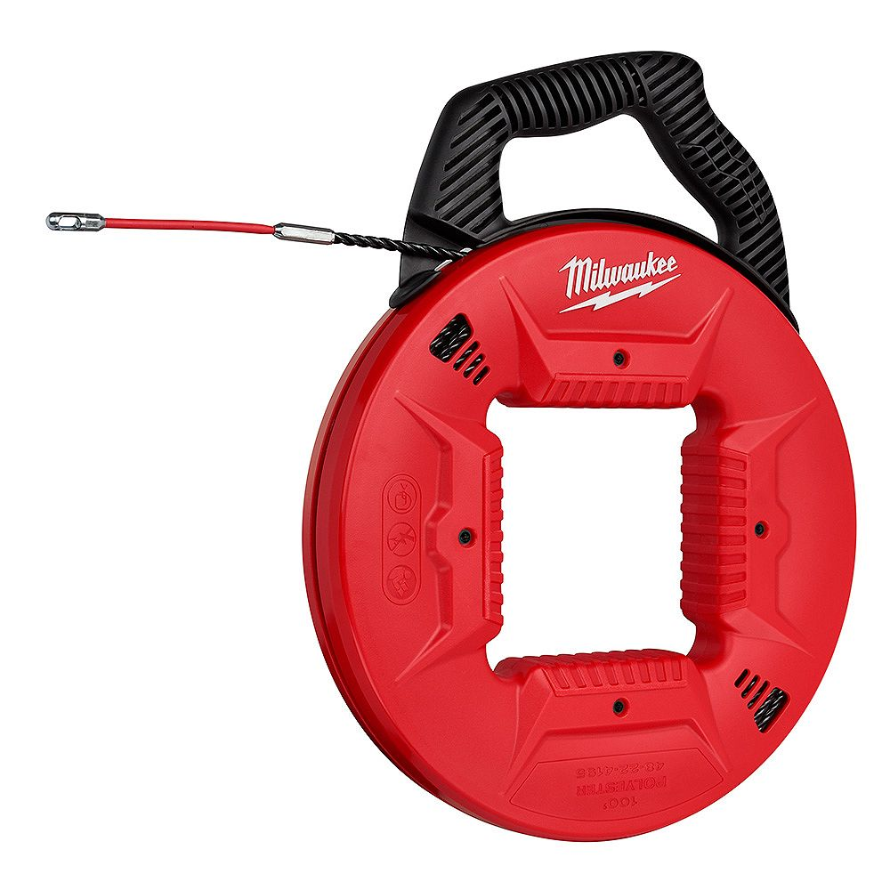 Milwaukee Tool 100 ft. Polyester Fish Tape with Flexible Metal Leader