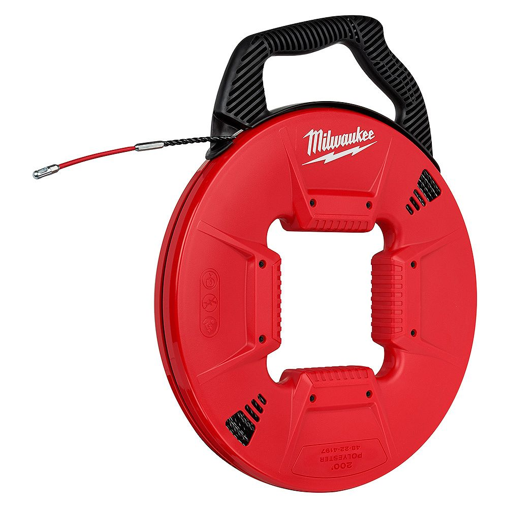 Milwaukee Tool 200 ft. Polyester Fish Tape with Flexible Metal Leader
