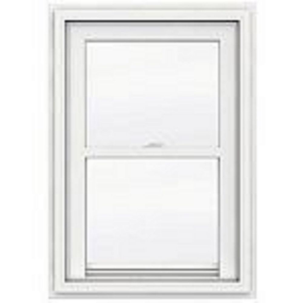 "JELD-WEN Windows & Doors 30""x36"" frame, 5000 Series White Vinyl Single Hung Window, Low-e, Argon, Screen"