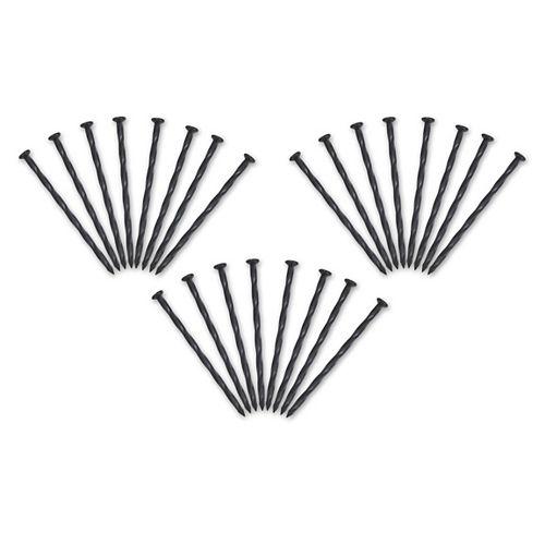 Vigoro Nylon Spiral Anchoring Spike, 24 ct. Black