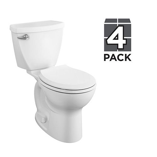 American Standard Cadet 4.8L 1.28 GPF Single Flush Round Front Complete Toilet in White (8 Pack)