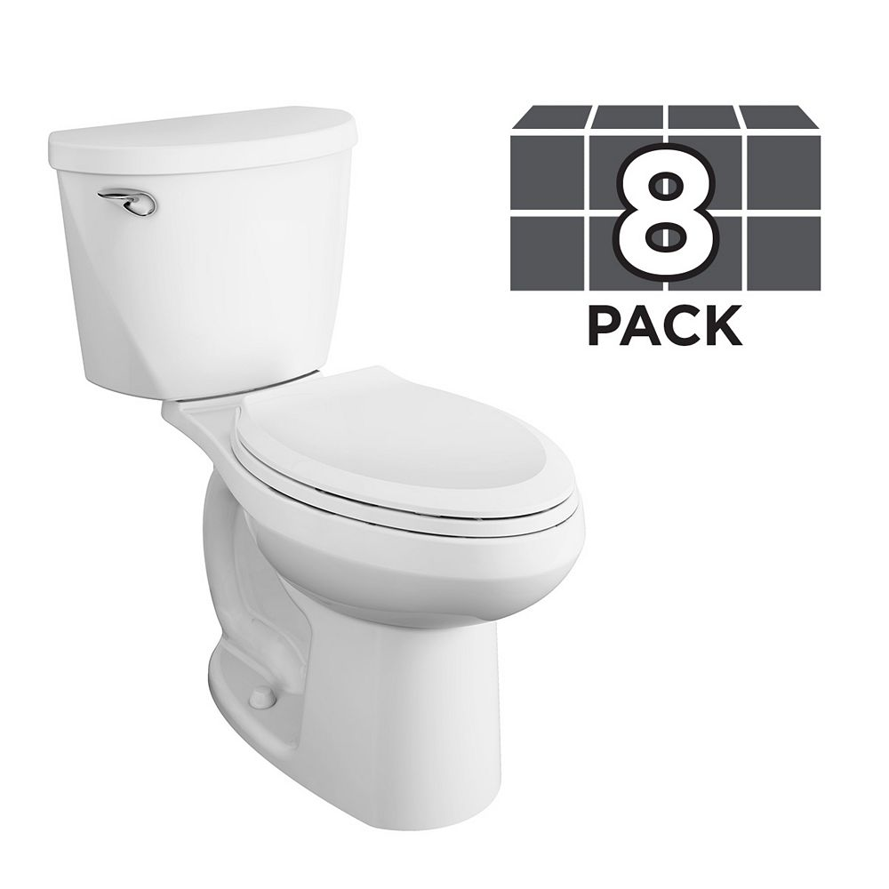 American Standard Mainstream Tall 2-piece 4.8L 4.8 GPF Elongated Comfort Height Toilet (8 Pack)