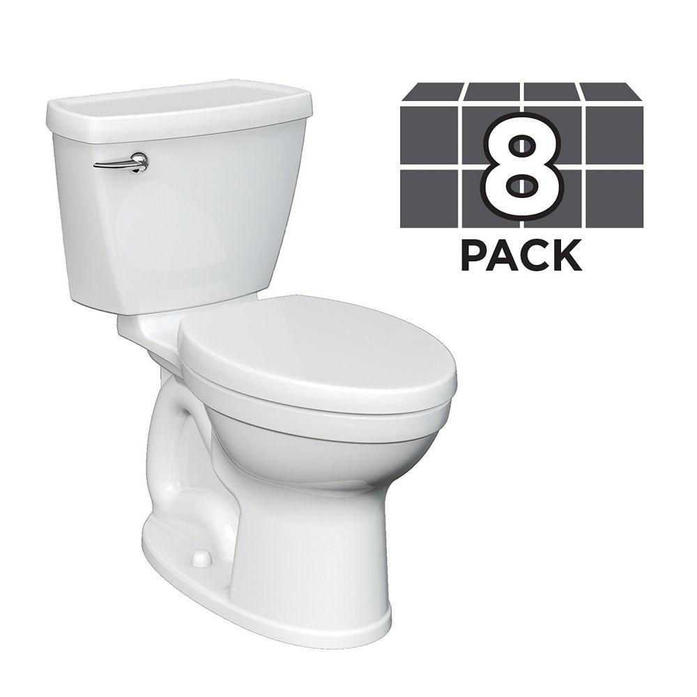 American Standard Champion 4 4.8 LPF 2-Piece Right Height Elongated Single Flush Toilet (8 Pack)