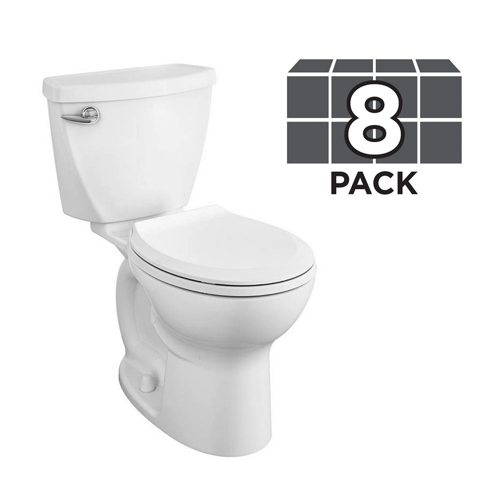 American Standard Cadet 10-inch Rough-in 2-Piece Single-Flush Round Bowl Toilet (4 Pack)