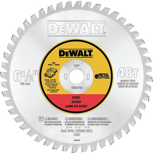 48 Teeth Ferrous Metal Cutting 5/8-inch Arbor, 6-1/2-inch (DWA7762)