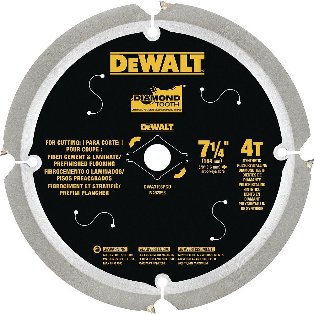 Dewalt Fiber Cement/Laminate Saw Blade, 7-1/4-inch (DWA3193PCD)