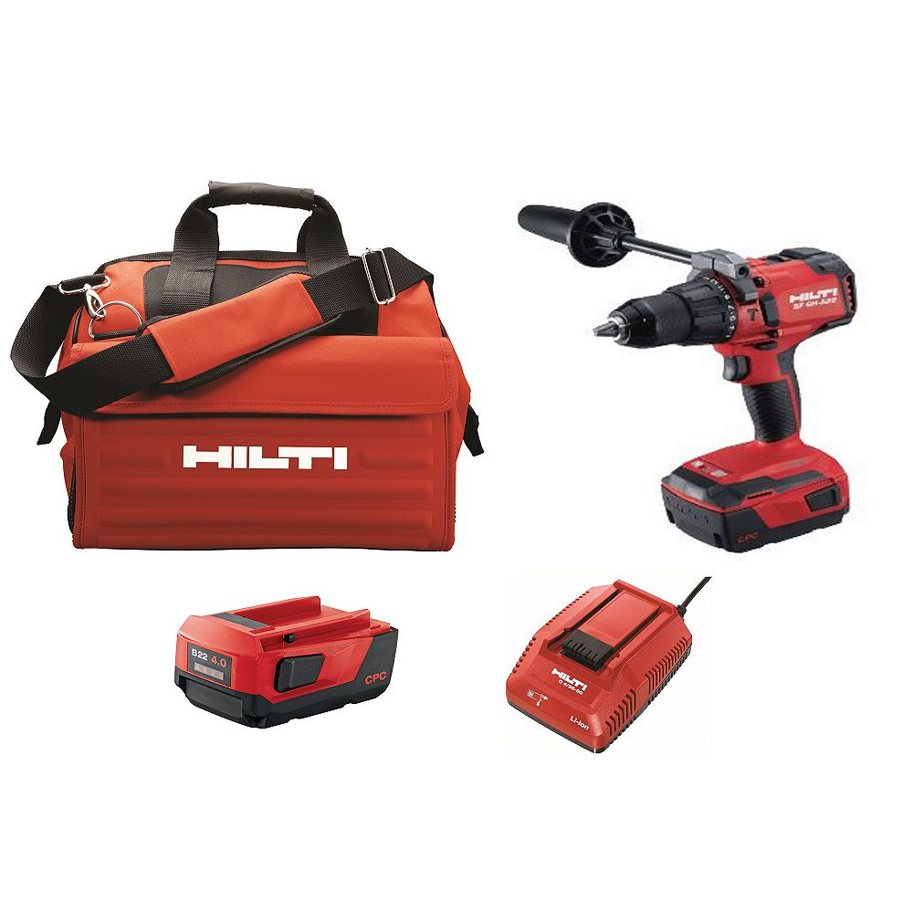 Hilti 22-Volt Lithium-Ion 1/2 inch Cordless Hammer Drill Driver SF 6H