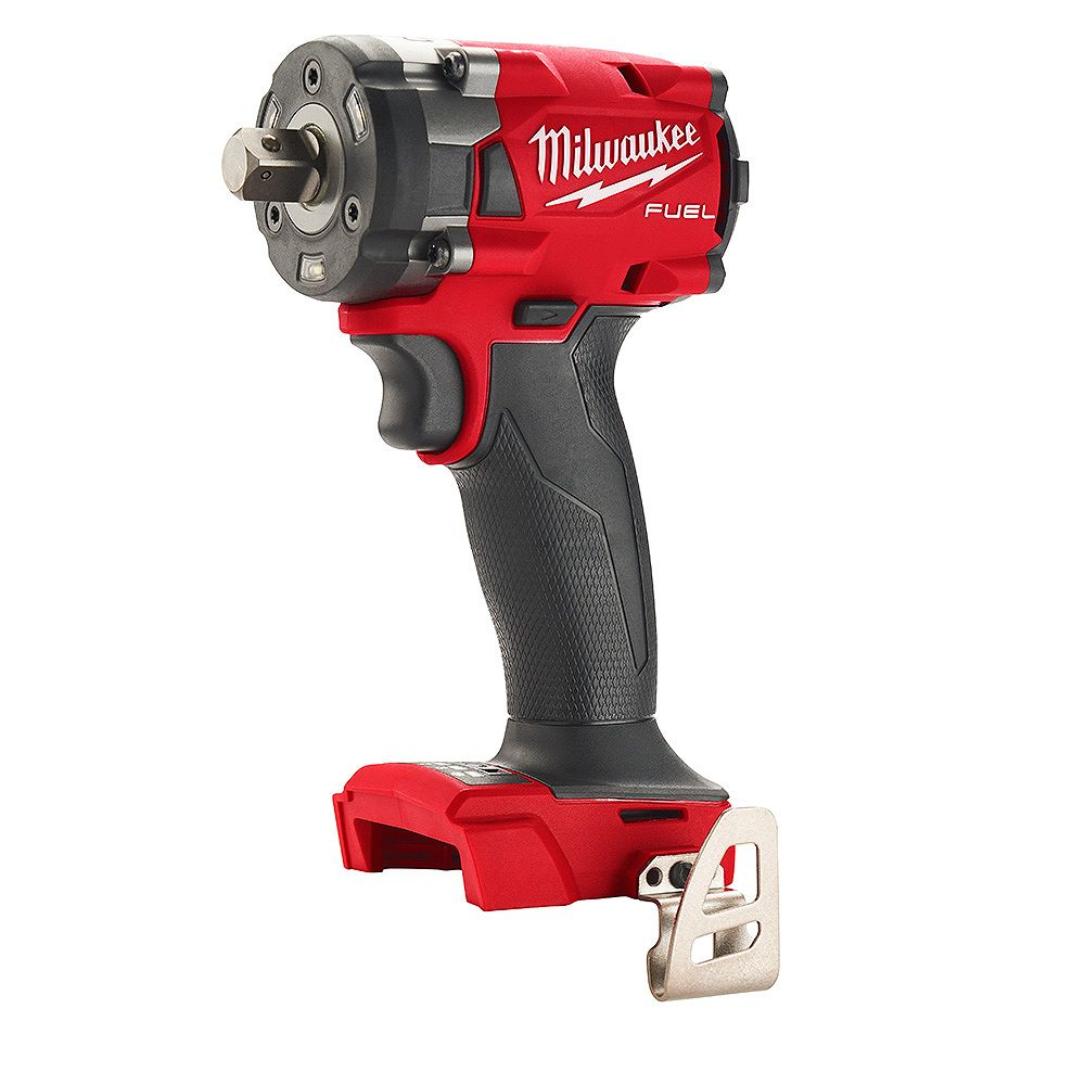 Milwaukee Tool M18 FUEL 18V Brushless Cordless 1/2 -inch Compact Impact Wrench w/ Pin Detent (Tool Only)