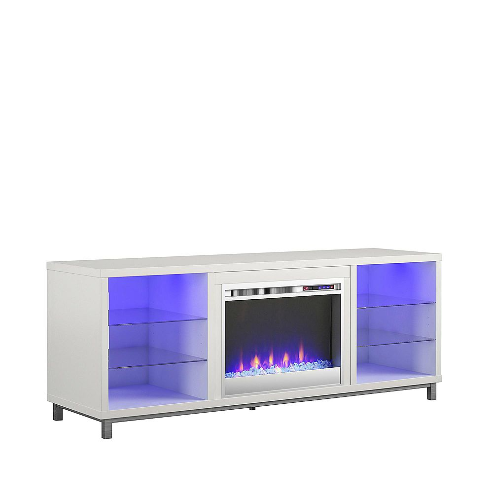 "Dorel Lumina Fireplace TV Stand for TVs up to 70"", White"