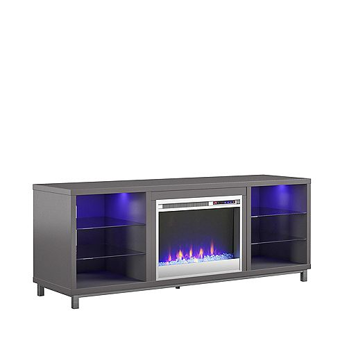 """Lumina Fireplace TV Stand for TVs up to 70"""", Graphite Gray"""