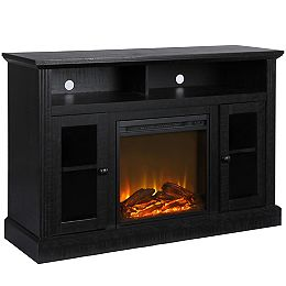 """Chicago Electric Fireplace TV Console for TVs up to a 50"""", Black Oak"""