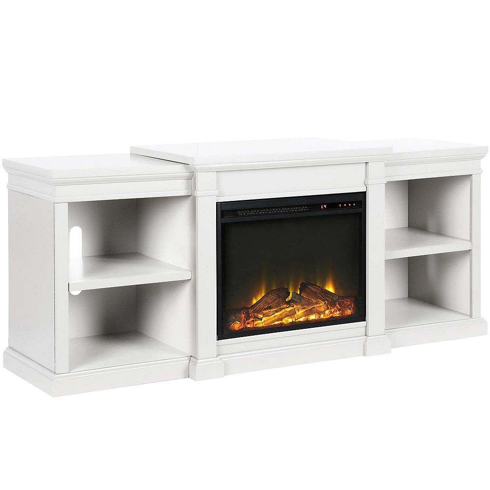 "Dorel Manchester Electric Fireplace TV Stand for TVs up to 70"", White"