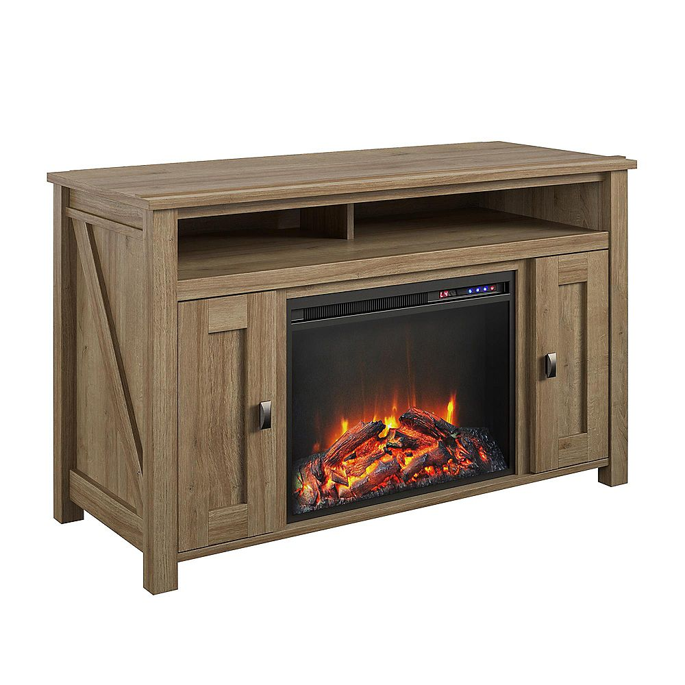 """Dorel Farmington Electric Fireplace TV Console for TVs up to 50"""", Natural"""