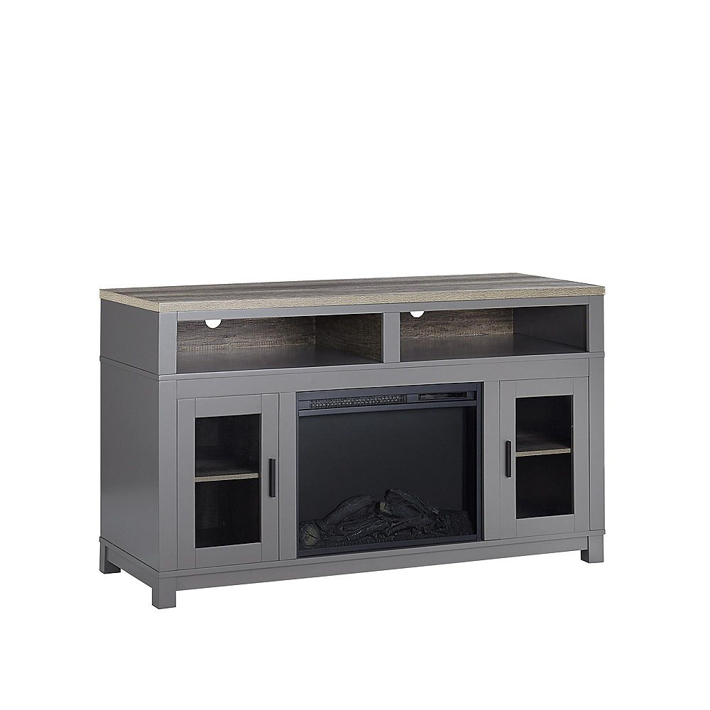 """Dorel Carver Electric Fireplace TV Stand for TVs up to 60"""", Gray"""