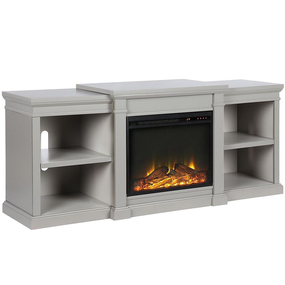 """Dorel Manchester Electric Fireplace TV Stand or TVs up to 70"""", Gray"""