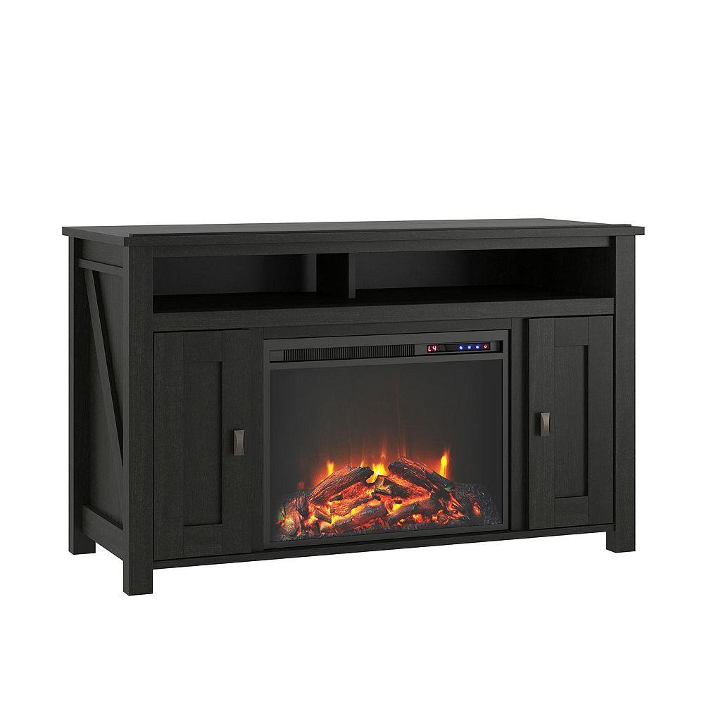 "Dorel Farmington Electric Fireplace TV Console for TVs up to 50"", Black Oak"