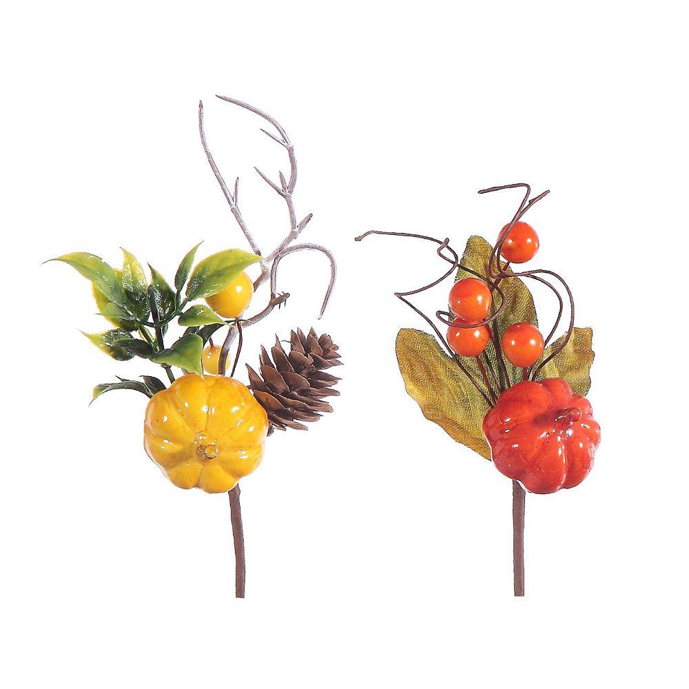 IH Casa Decor Mini Pumpkin Picks (Asstd)
