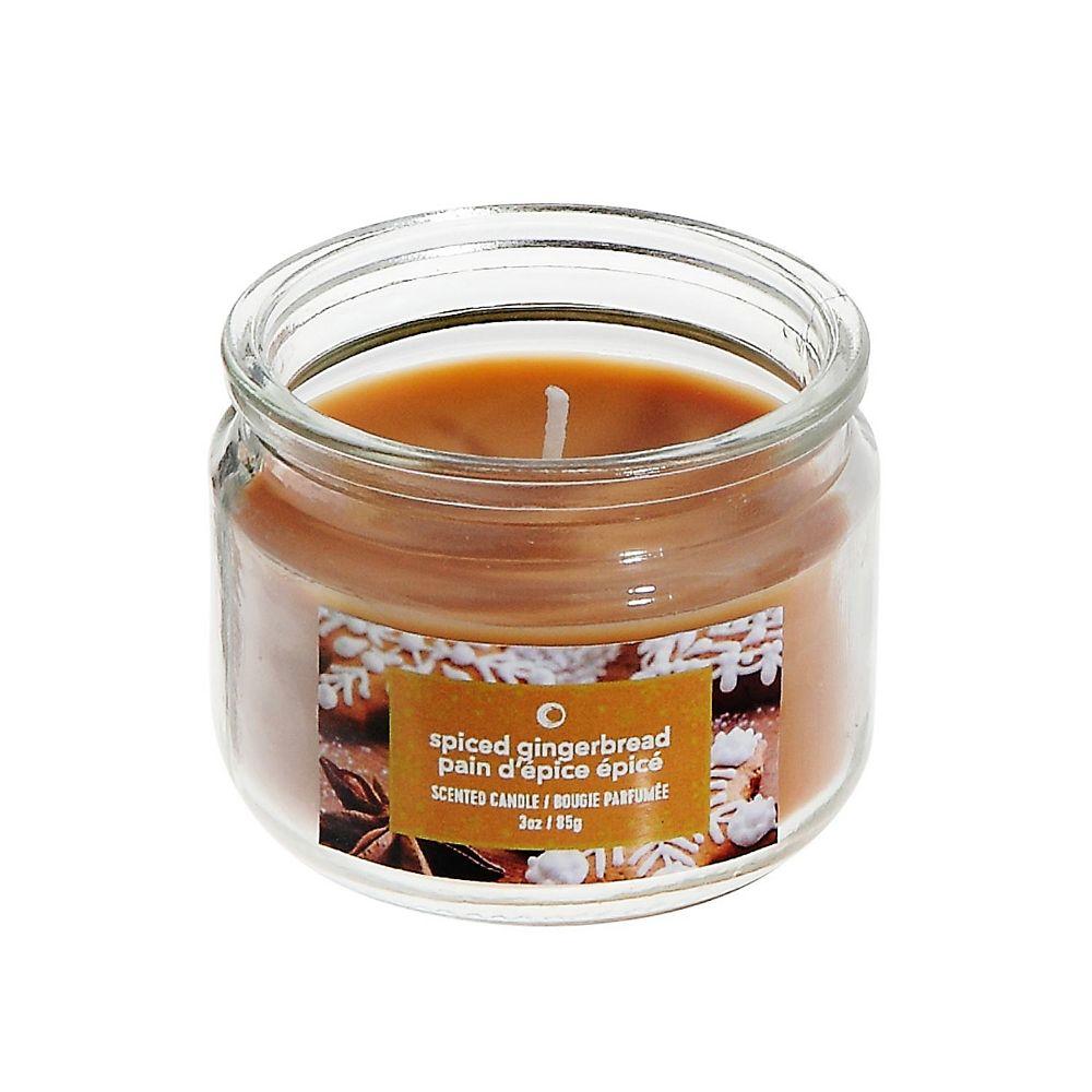 IH Casa Decor 3 Oz Scented Jar Candle (Spiced Gingerbread)