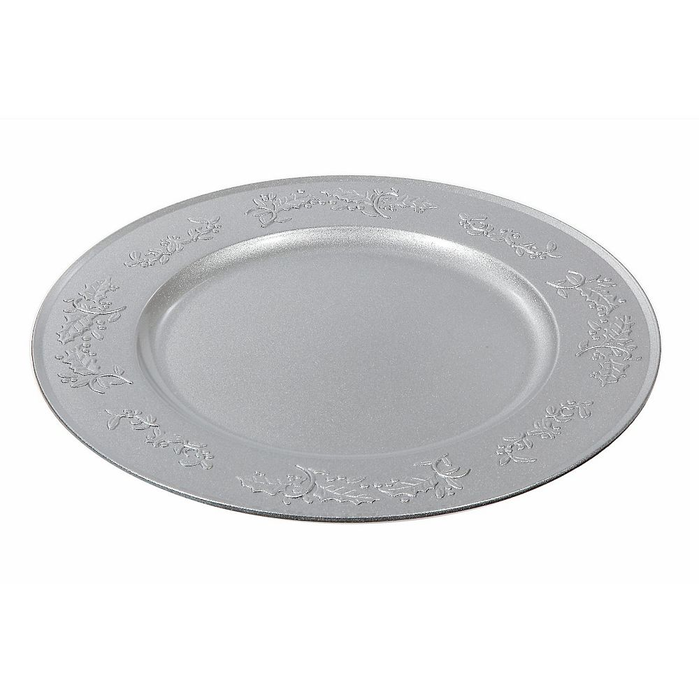 IH Casa Decor Charger Plate (Ivy) (Silver)
