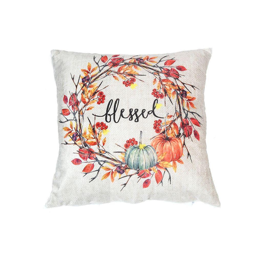 IH Casa Decor Led Velvet Cushion (Blessed Wreath)