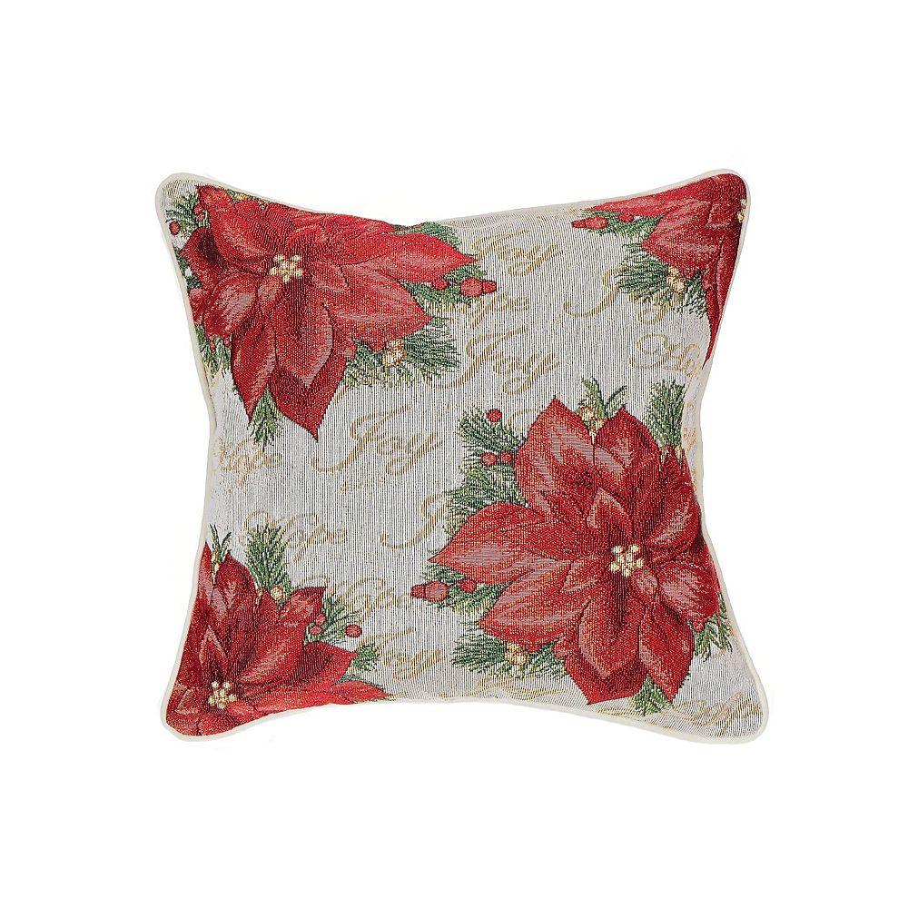 IH Casa Decor Tapestry Cushion (Joy Hope Poinsettia)