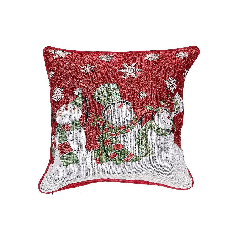 IH Casa Decor Tapestry Cushion (Triple Smiling Snowman)