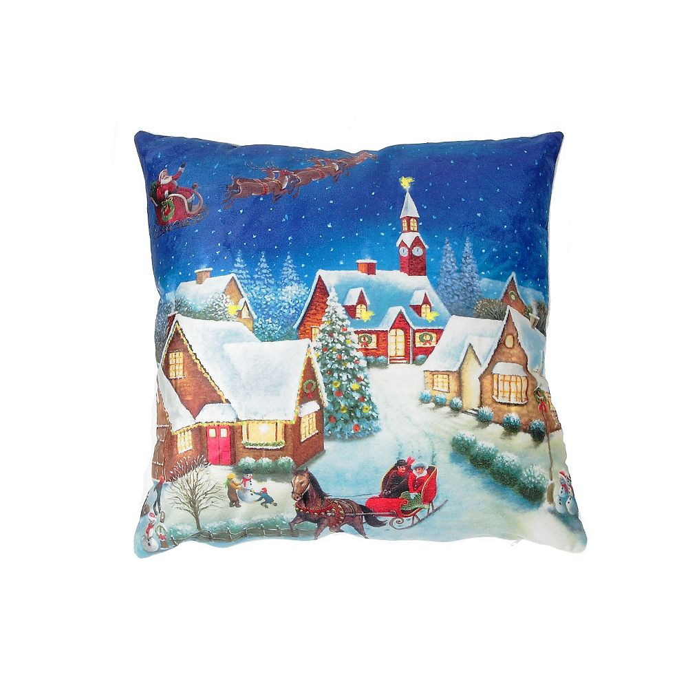 IH Casa Decor Led Velvet Cushion (Night Before Christmas)