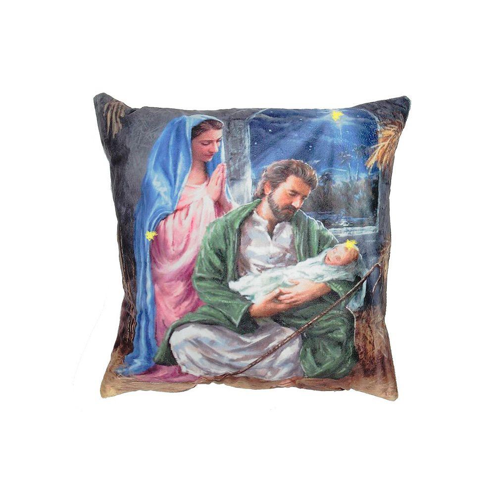 IH Casa Decor Led Velvet Cushion (Nativity Scene)