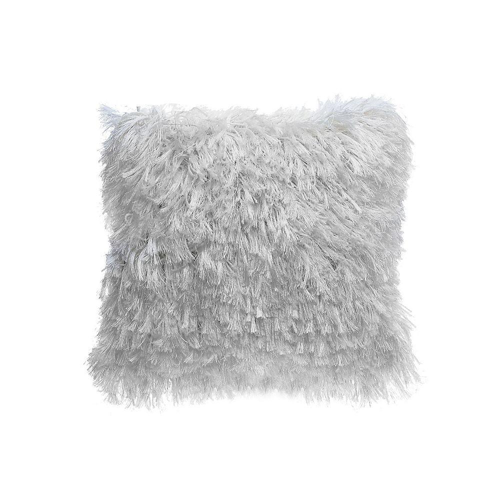 IH Casa Decor Furry Cushion (Ivory)