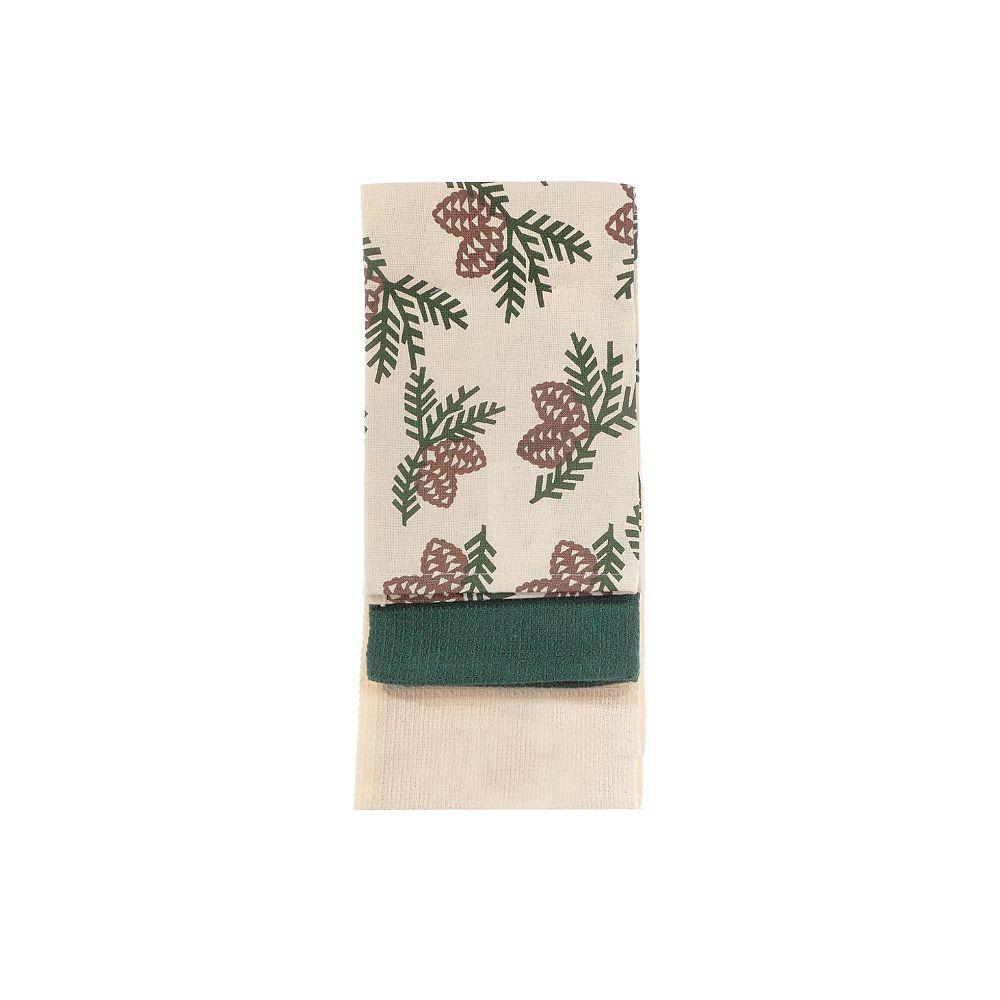 IH Casa Decor Kitchen Towel (Set Of 3 Pcs) (Pinecone)