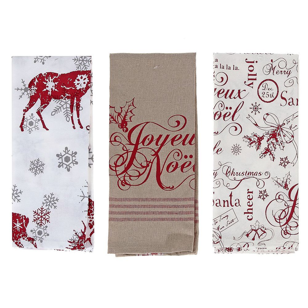 IH Casa Decor Printed Joyeux Noel Cotton Kitchen Towel (Asstd)
