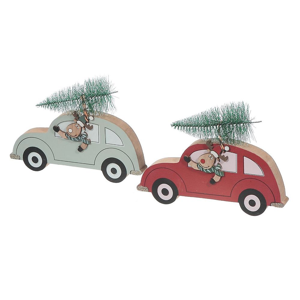 IH Casa Decor Wooden tabletop Buggy With Tree (Asstd)
