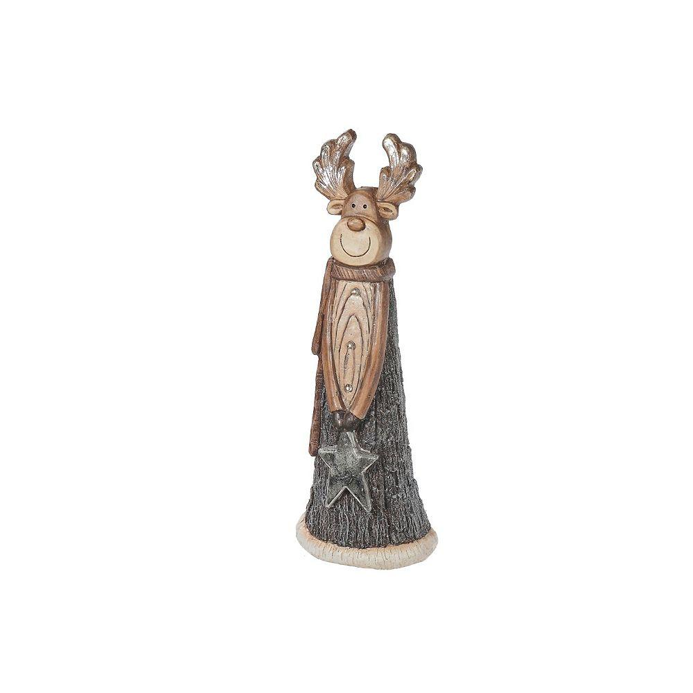 IH Casa Decor Led Magnesia Reindeer Holding Star Figurine