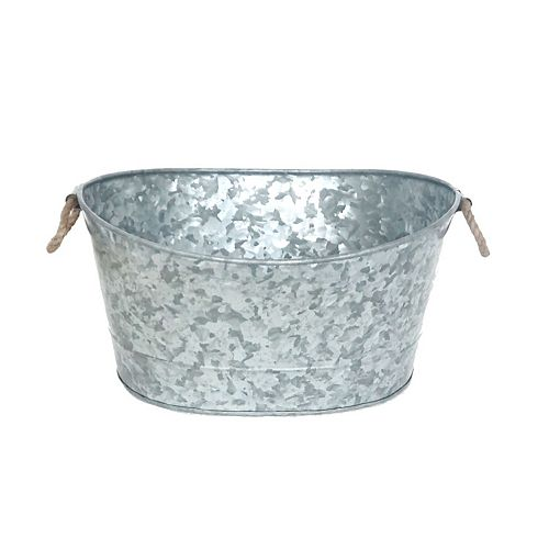 Galvanized Oval Bucket With Handle