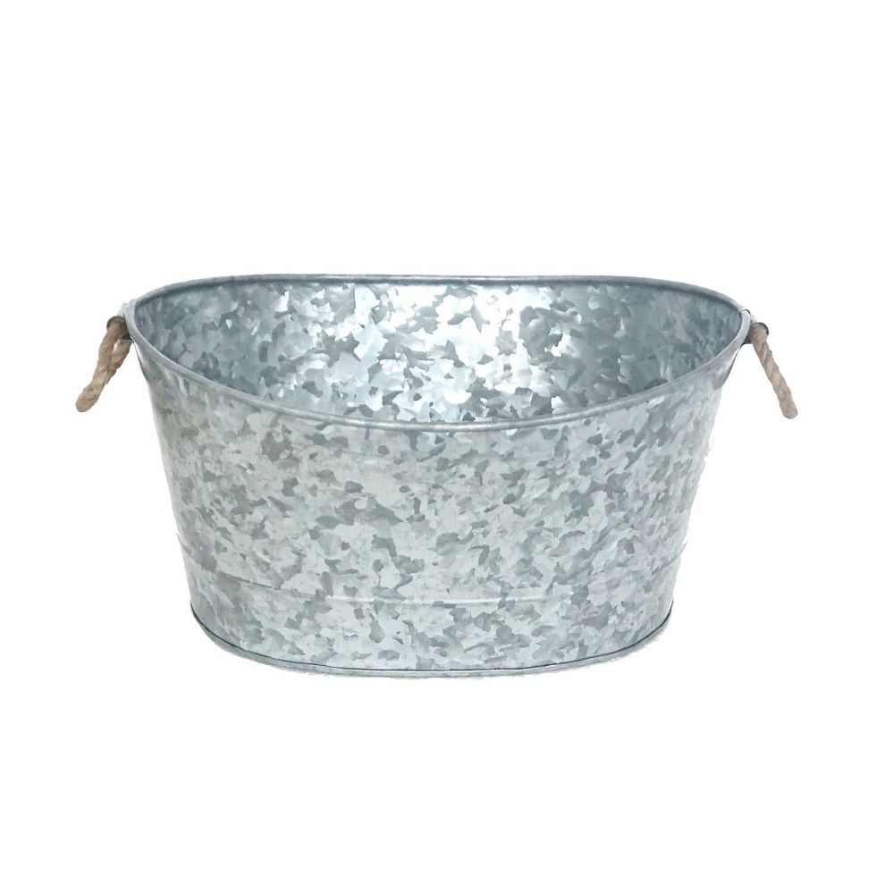 IH Casa Decor Galvanized Oval Bucket With Handle