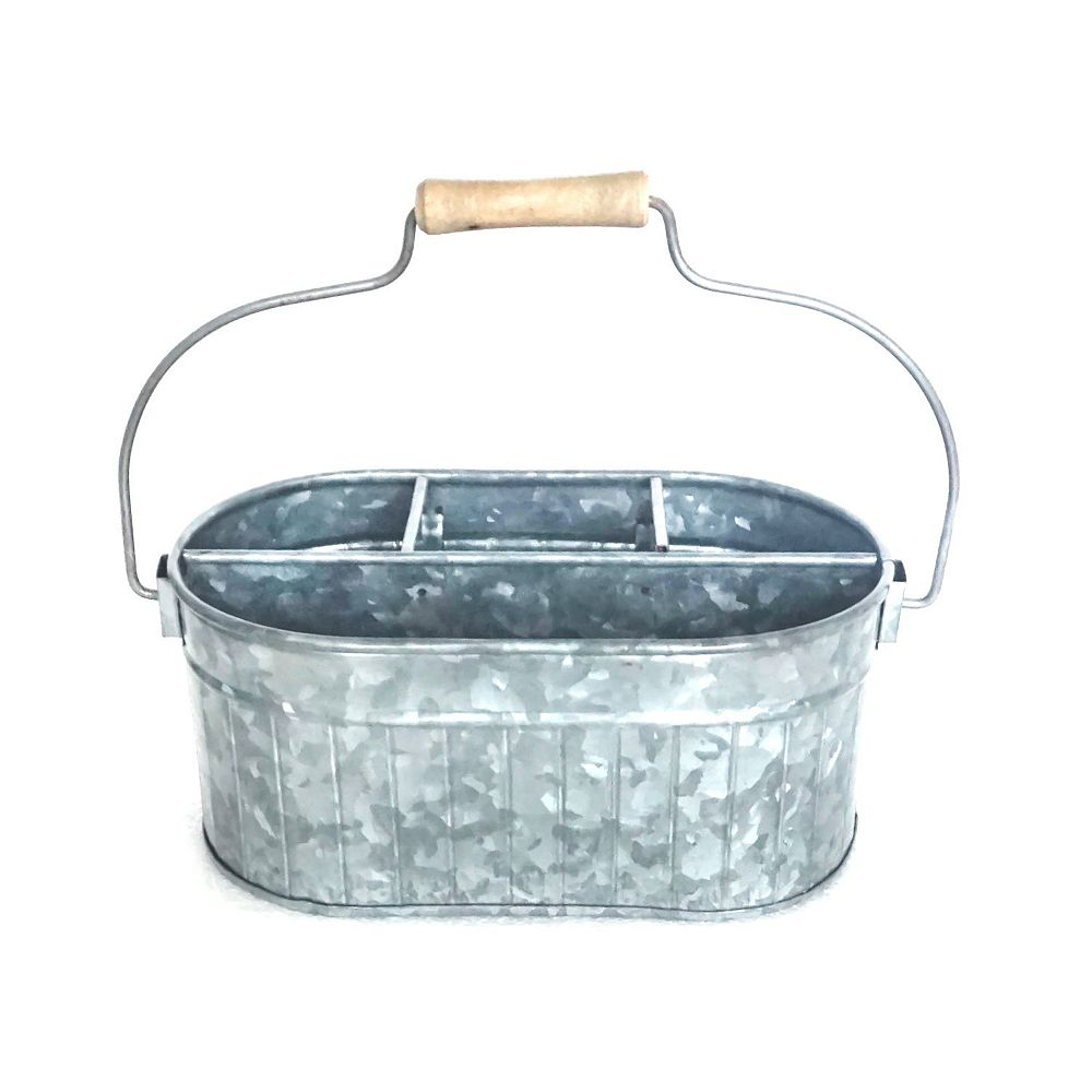 IH Casa Decor Galvanized Oval Bucket With Handle