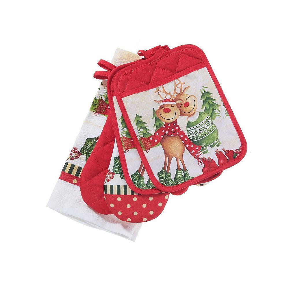 IH Casa Decor 5 Pc Kitchen Set (Joyful Reindeer)